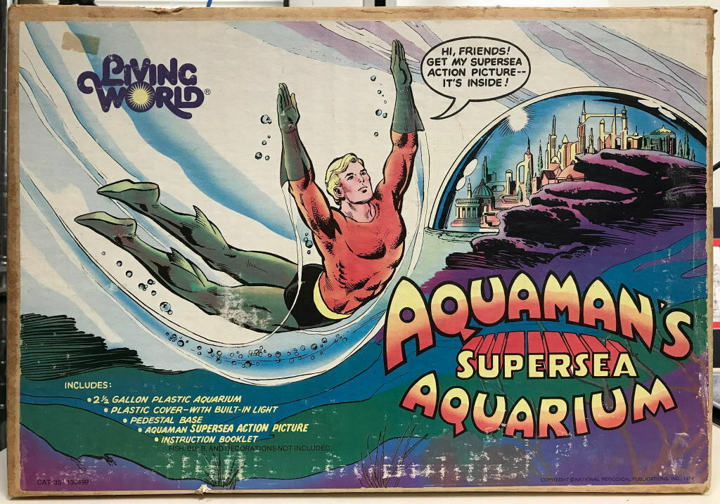 1974 AQUAMAN'S SUPERSEA AQUARIUM Complete & Unused DC Living World RARE Original