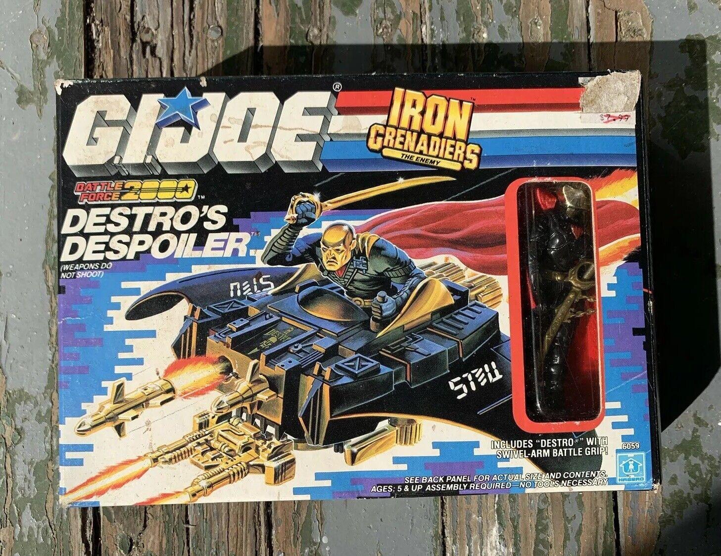 Vintage GI JOE Destros Despoiler Action Figure Toy Hasbro 6059 New In Box