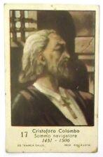 Figurina Anni 1930 Cristoforo Colombo Marca Gallo Cartonata cm 7 x 4,5