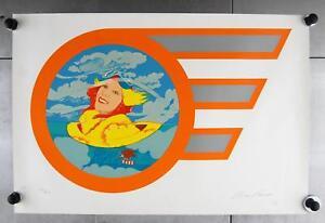Bob-Pardo-Woman-Angel-Flyer-Limited-Edition-174-of-300-Serigraph-Print