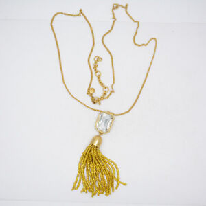 J-Crew-jewelry-matte-gold-plated-antique-cut-glass-stone-sparkly-necklace-tassel
