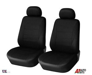 For Land Range Rover Freelander Defender 1+1 Black Fabric Front Seat Covers