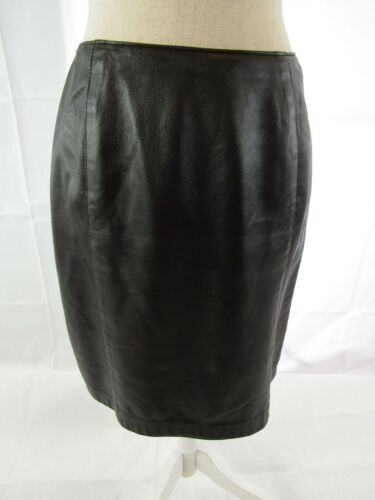 KAY UNGER Leather Skirt - Size 6