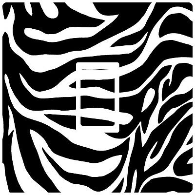 Zebra Pattern Black & White Light Switch Sticker decal skin vinyl cover wall