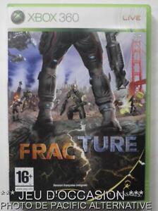 OCCASION-Jeu-FRACTURE-xbox-360-microsoft-game-francais-action-guerre-combats