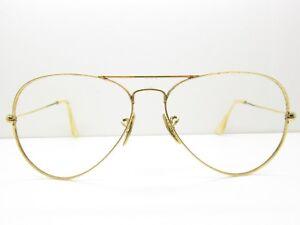 fed5a44ea1d B L RAY-BAN AVIATOR EYEGLASSES FRAMES sunglasses bausch small 58-14 ...