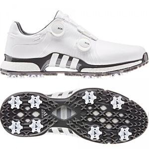 Details zu 2020 Adidas Tour 360 XT Twin BOA Herren Golfschuhe, WIDE, Weiß Grau NEU OVP
