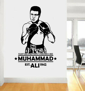 Muhammad Ali Inspired Float Like A Butterfly Quote Wall Art