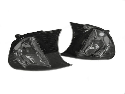 DEPO Crystal Smoke Corner Signal Light For 2000-01 BMW E46 2D Coupe Convertible