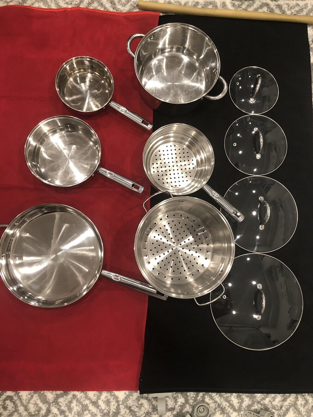 Cookware Set en Acier Inoxydable 10 Pièces Cuisine Pots, Casseroles, Couvercle Set Gibson Home