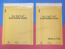 12 Kraft Bubble Envelope 2 Size Combo Made In Usa Quality Padded Mailers