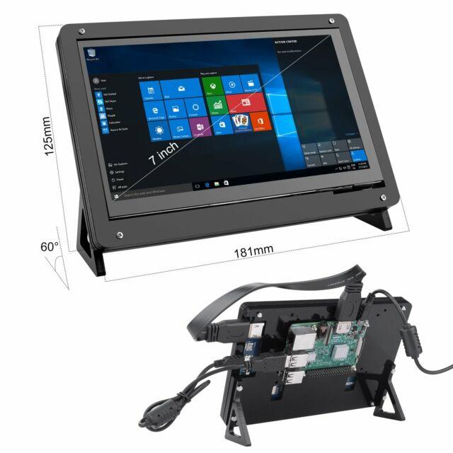 7 Inch 1024x600 Raspberry Pi 2 3 b+ Touch Screen HDMI LCD Display Monitor + Case