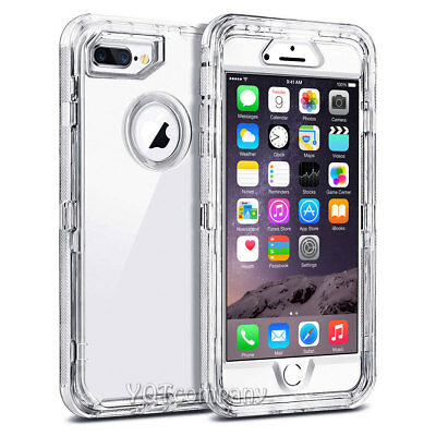For Apple iPhone 7 8 XS 6s Plus Cover Case Shockproof Hybrid Rugged Rubber Clear