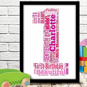 Image Is Loading Personalised 1st First Birthday Gift Baby Girl Or