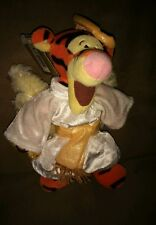 "Disney Store Winnie the Pooh beanbag plush Tigger Angel wings halo gown 9"" tag"