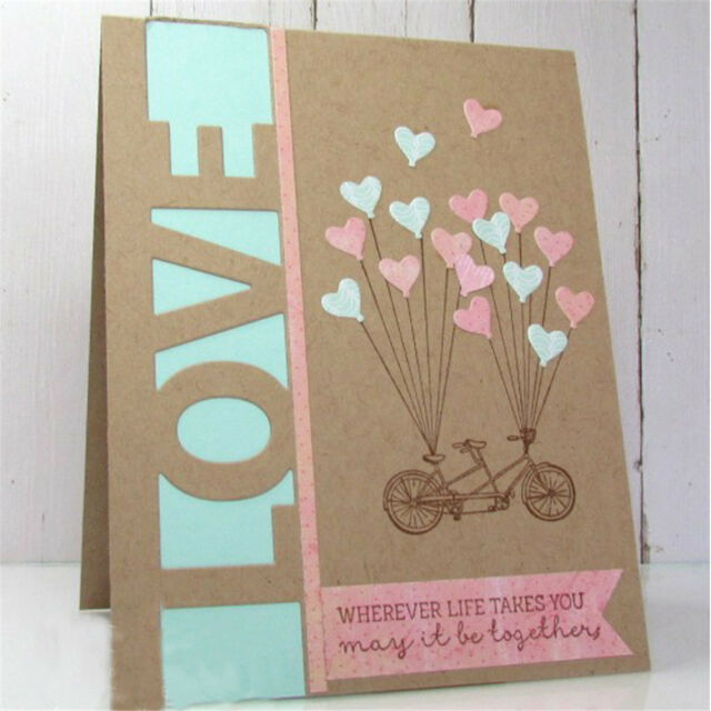 Greeting Words love Metal Cutting Dies For DIY Scrapbooking Card Craft Decor Pip
