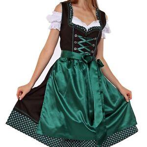 01304-Dirndl-3Tlg-Trachtenkleid-Oktoberfest-Gr-34-bis-52