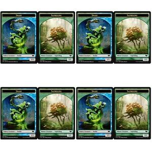 Snake GREEN Toys & Hobbies BLUE // Saproling TOKEN Card x10 NM Commander 2015 MTG TOKEN CARD MTG Individual Cards