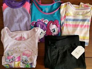 Girls-039-Size-Medium-7-8-Sleeveless-Tank-Top-amp-Black-Pull-On-Shorts-Mixed-Lot