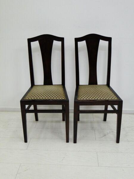 3117d-3118d-2er Satz Jugendstilstühle-set-sessel-stühle-jugendstil-2er Satz-2stk AusgewäHltes Material
