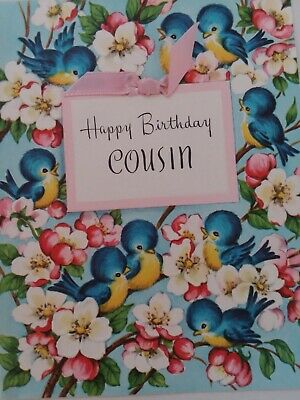 Vintage Cousin Birthday Card