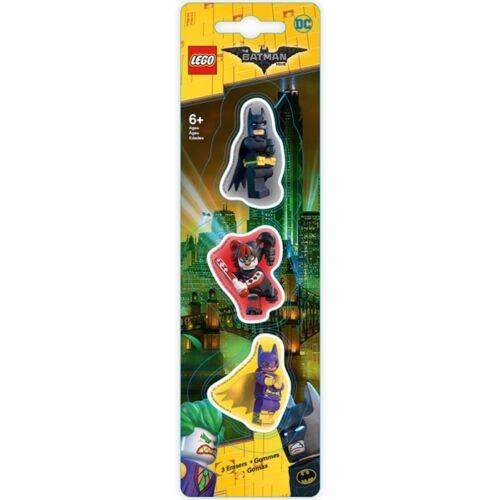 LEGO BATMAN ERASER SET Batman / Batgirl / Harley