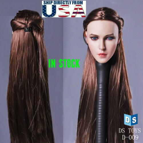 "1//6 Female Beauty Head Sculpt Braided Hair For 12/"" Hot Toys PHICEN Figure USA"