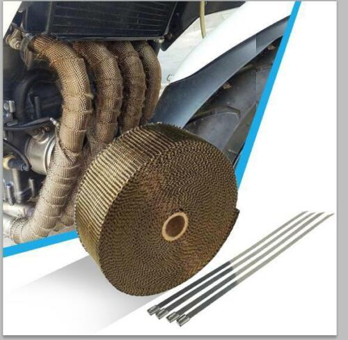 5M High Heat Insulation Wrap Titanium Exhaust Header Pipe Tape Cloth For Car