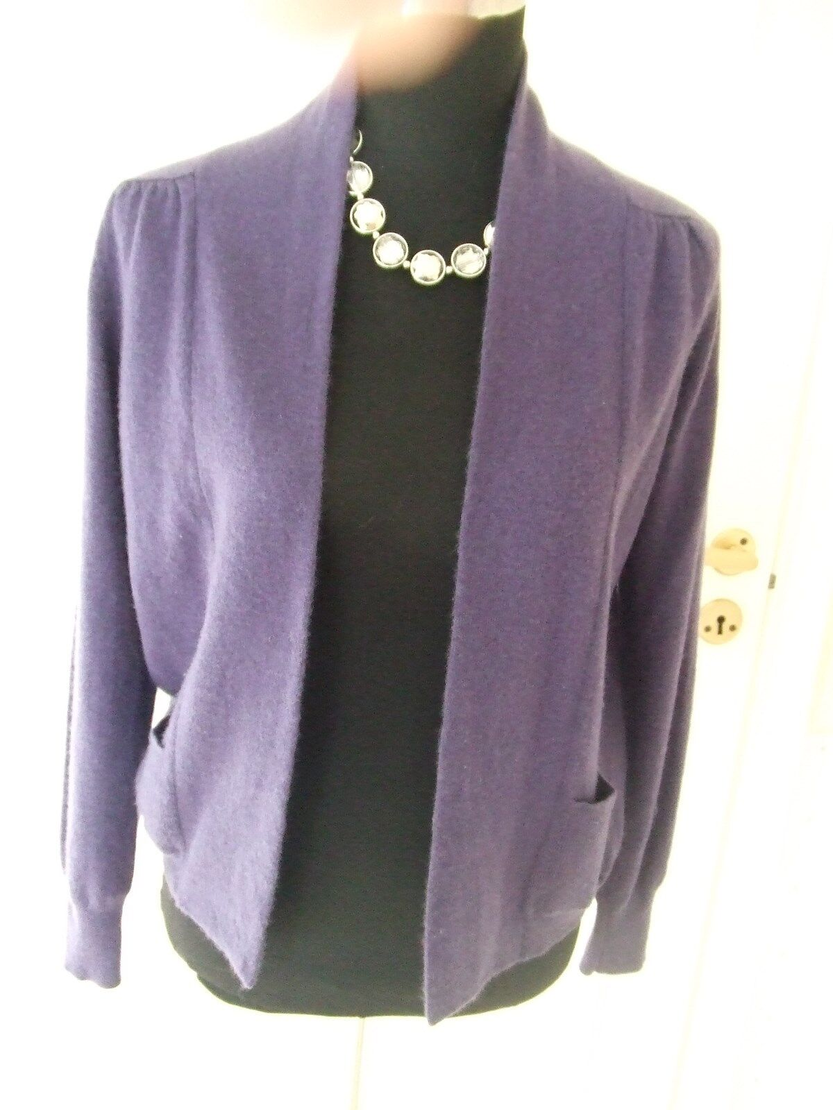 M&S EDGE to EDGE  Style Cashmere Cardigan Purple 10