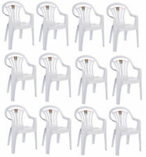 60e50a9f40b6 2,4,6 Plastic Low Back Armchair Patio Outdoor Garden Chairs Party Camping  Picnic