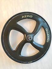 Vintage Four-spoke Aero Quatro Carbon Road Bike Rear Wheel 700c