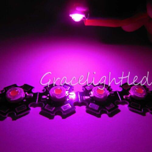 New 10pcs 3W full spectrum 380nm-840nm led chip Plant grow light 20mm pcb