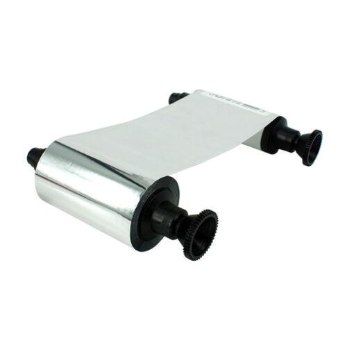 Ribbon for Evolis Card Printer R2017 Silver Resin Monochrome 1000 Prints Roll