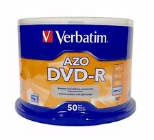 VERBATIM AZO DVD-R 16X 4.7GB Branded Logo 50 pack Spindle 95101