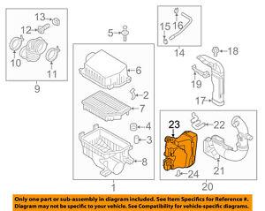 kia oem 12 15 rio air cleaner intake resonator duct tube hose rh ebay com