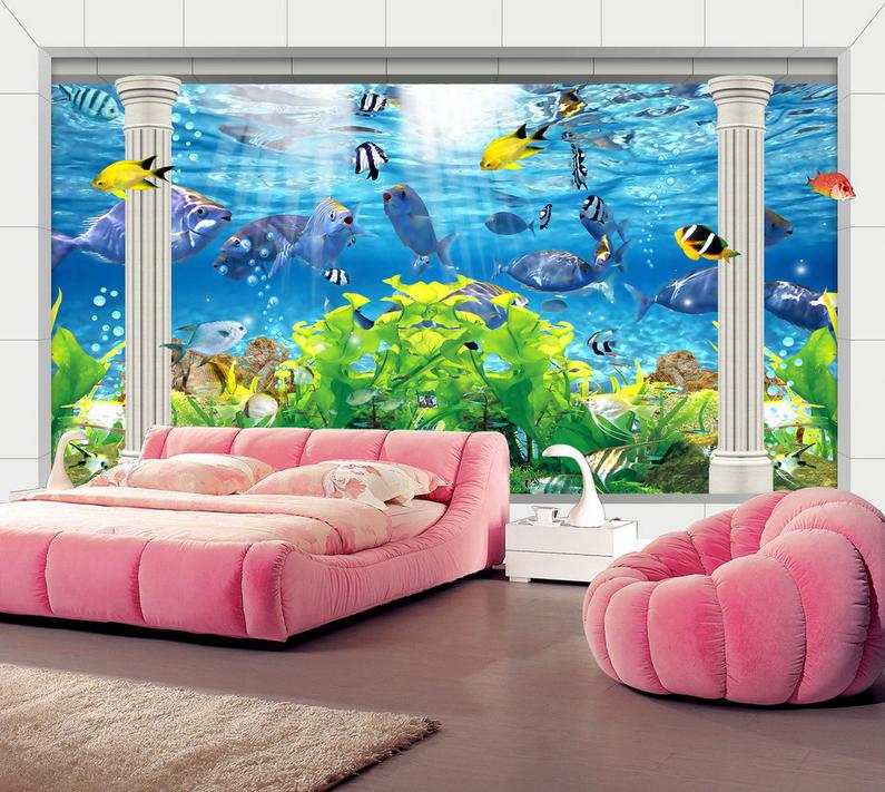 3D Schönes Aquarium 864 Tapete Wandgemälde Tapete Tapeten Bild Familie DE Summer