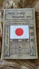 Santo Tomas Internment Camp Stic in Verse and Reverse 1942-1945