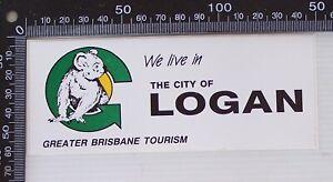 VINTAGE-CITY-OF-LOGAN-GREATER-BRISBANE-TOURISM-ADVERTISING-PROMO-STICKER