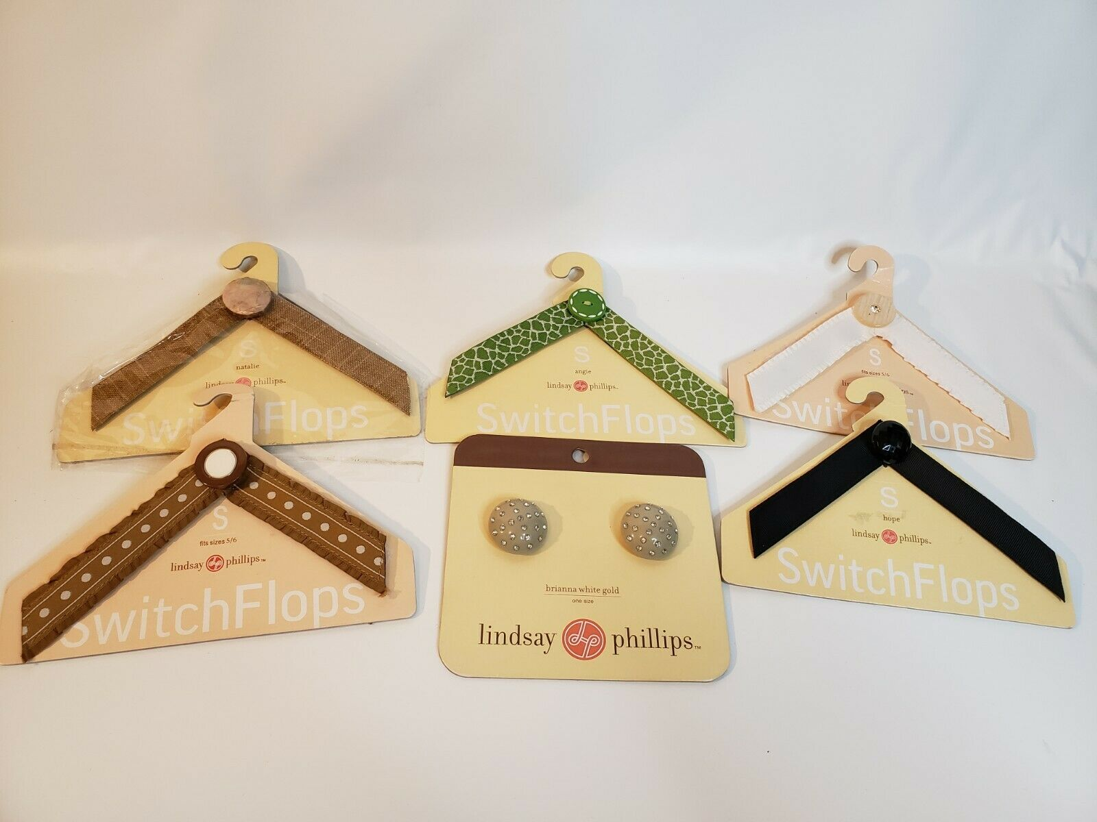Lindsay Phillips Switchflops Straps Lot Of 6 Size S
