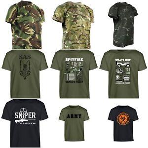 Ninos-Ejercito-Camiseta-Ninos-Vestir-Disfraz-Camuflaje-Camo-Zombie-SAS-Militar