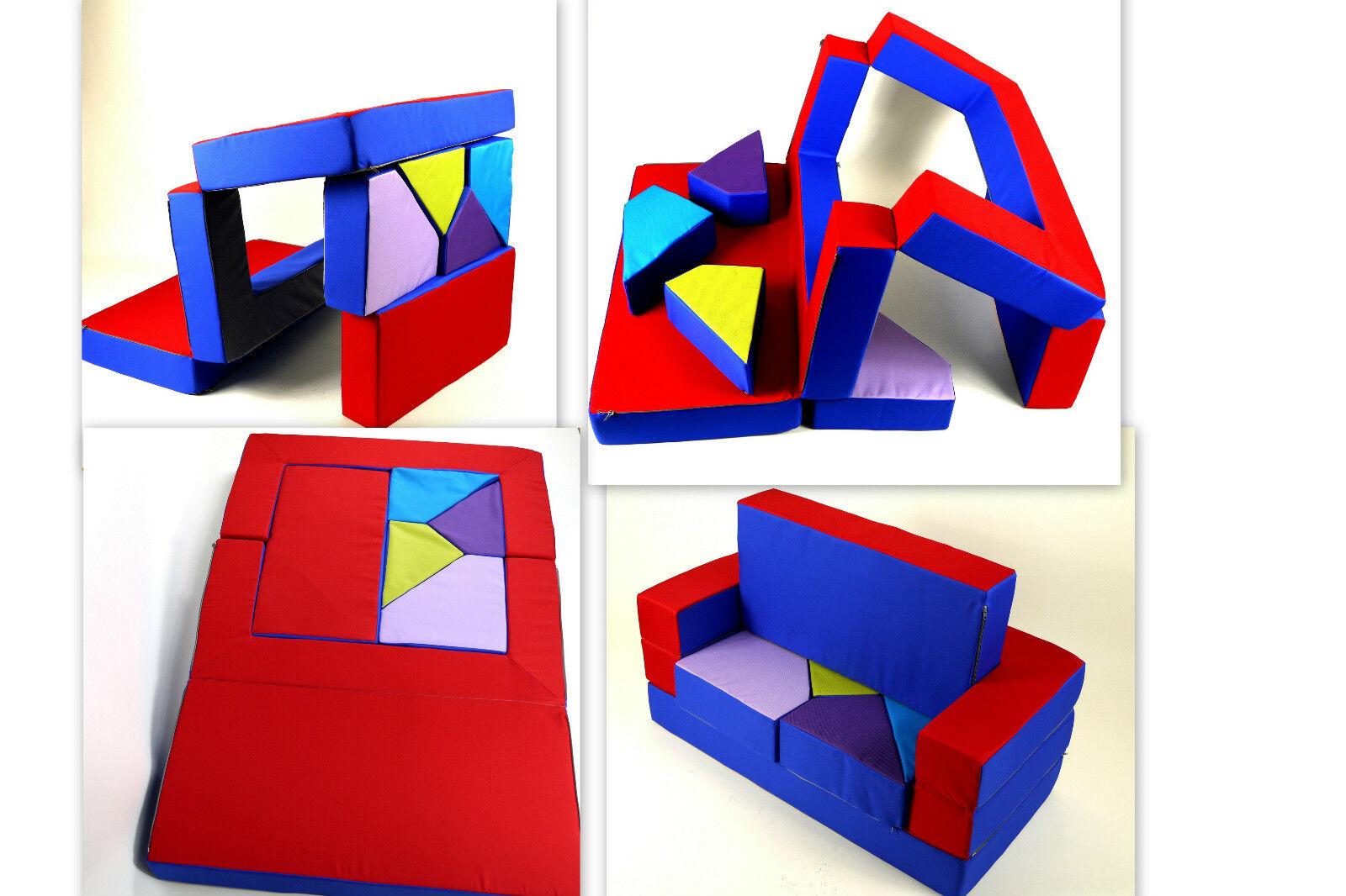 Kg02b spielsofa 4in1 spielmatraze Kindersofa Puzzle kinderzimmersofa softsofa
