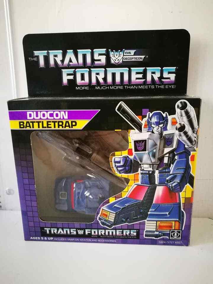 Transformers G1 Duocon Battletrap 1986 Hasbro Takara MADE in Macau Vintage Toys