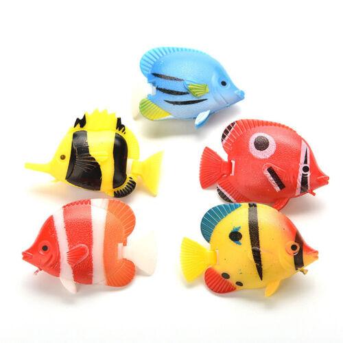 10x Plastic Artificial Moving Floating Fishes Aquarium Fish Tank Ornament Decor