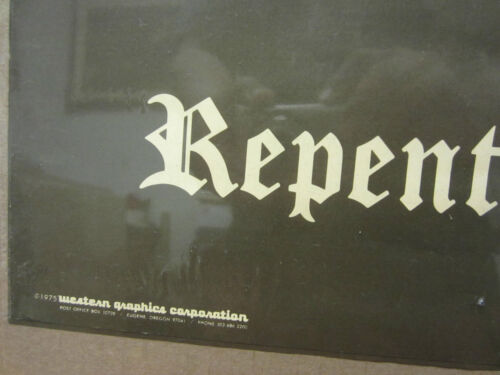 1975 poster  used  2567 vintage REPENT