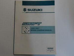 1996 1997 suzuki swift electrical wiring diagram shop manual factory electrical wiring diagrams for motorcycles image is loading 1996 1997 suzuki swift electrical wiring diagram shop