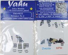 Yahu Modelos yma4833 1/48 PE Petlyakov Pe-2 Panel De Instrumentos