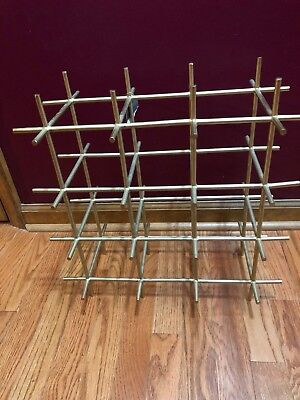 Threshold 9 Bottle Free Standing Metal Wine Rack Holder Stand Small Compact