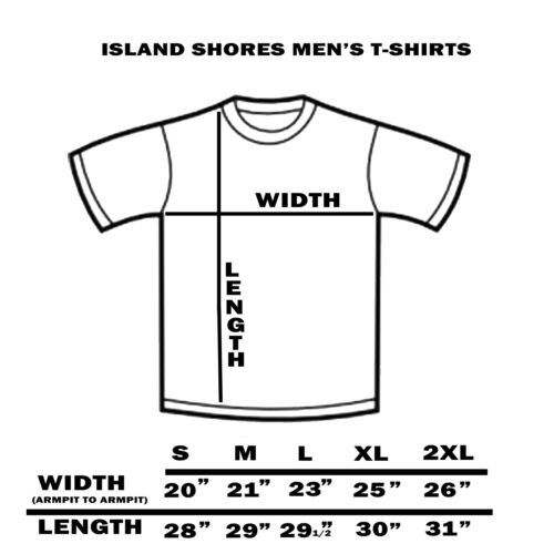 """Laid Back Men/'s T-shirt /""""Island Shores/""""  Relax,Kick back,unwind Fathers Day Gift"""