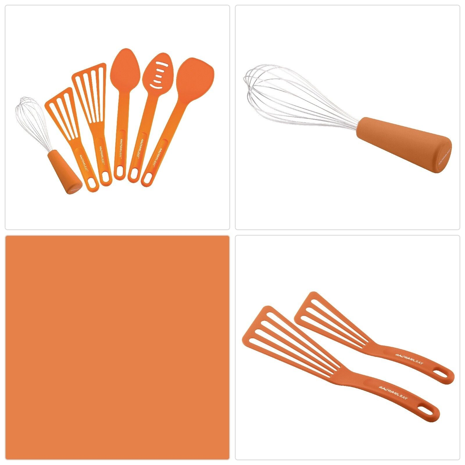 Rachael Ray 51205 3 Piece Spoonula Set Orange