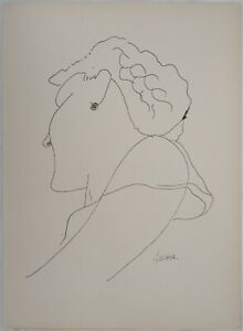 Leon gischia (after): female laugh-signed lithographs